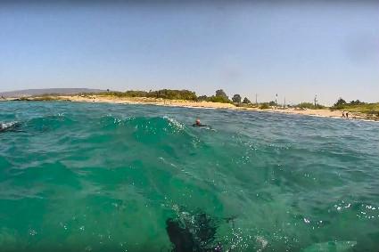 צלילה בחוף שמורת אכזיב - מערות אכזיב 1
